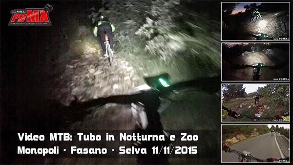 Video mtb discesa del tubo in notturna e zoo pdmx